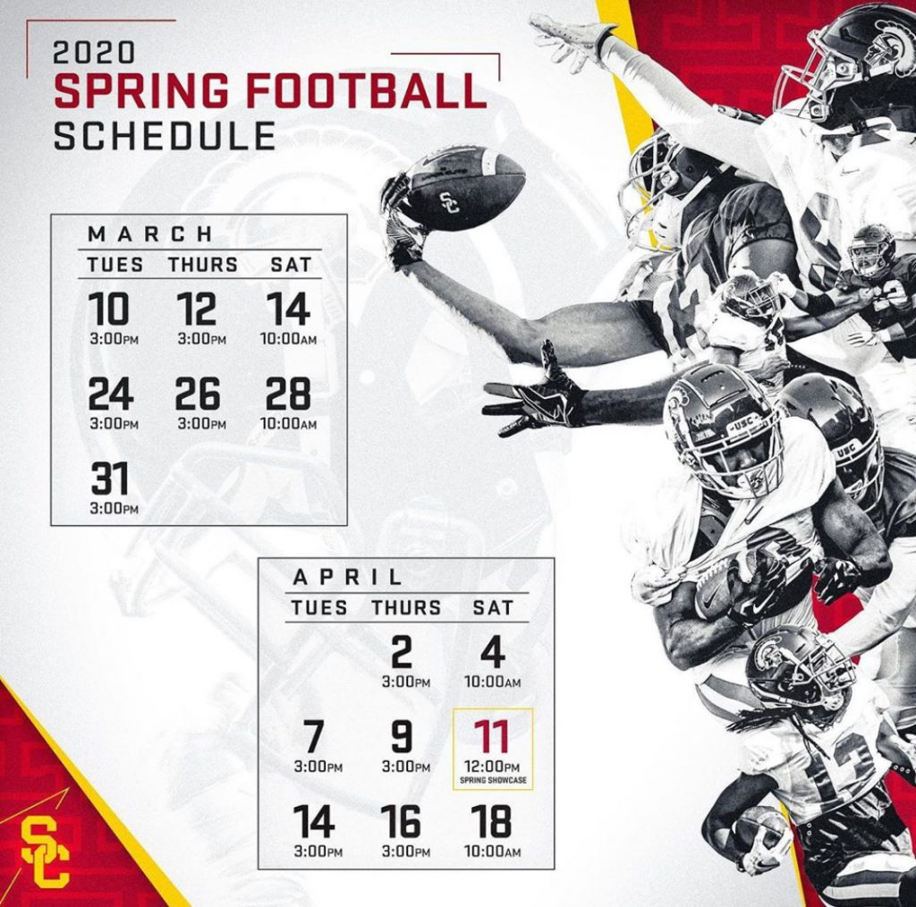 USC 2020 Spring Practice